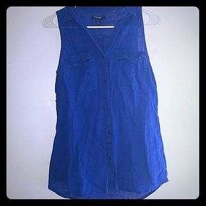 Royal Blue-•Old Navy•  Sleeveless Button-up Blouse